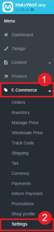 การตั้งค่าระบบ E-Commerce 1