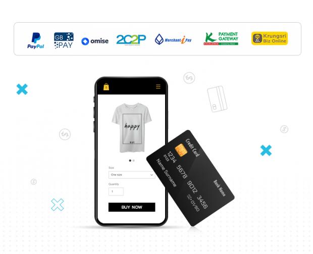ใช้ Payment Gateway เพื่อให้ร้านค้ารองรับการชำระสินค้าบนมือถือด้วยบัตรเครดิต
