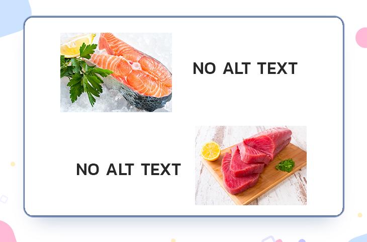ตัวอย่างภาพประกอบที่ไม่ใส่ Alt Text