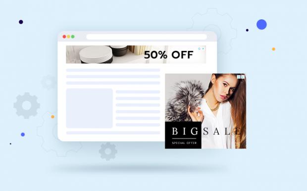 ตัวอย่างการแสดงโฆษณาของ Google AdSense