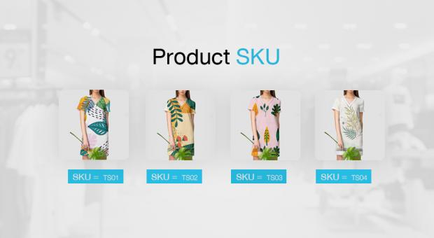 เสื้อทั้ง 4 ลาย มี SKU เป็นข้องตัวเอง