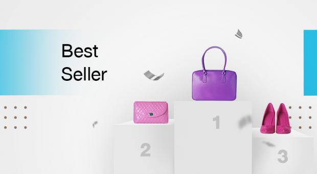 กระเป๋าสีม่วงขายดีเป็นอันกับ 1 เมื่อเทียบกับสินค้าอื่นๆ ในระบบคลังสินค้า