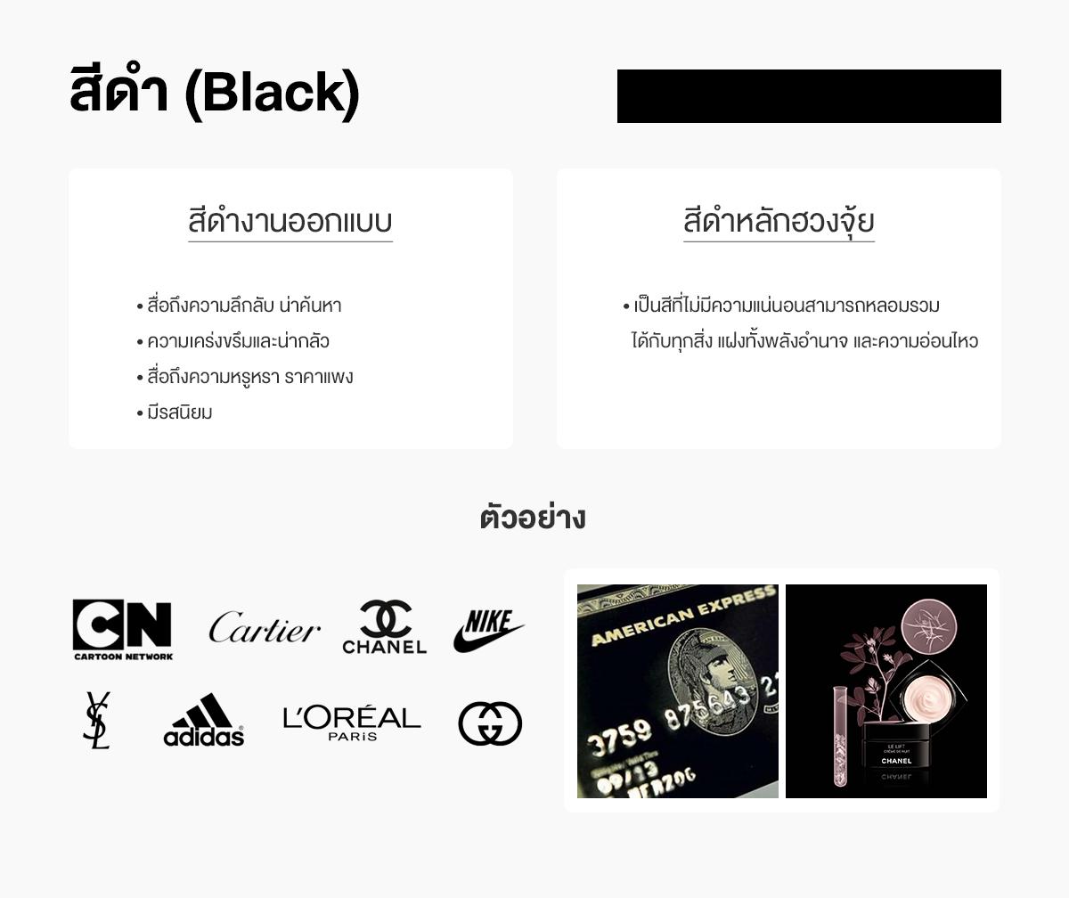 สีดำออกแบบกับสีดำฮวงจุ้ย