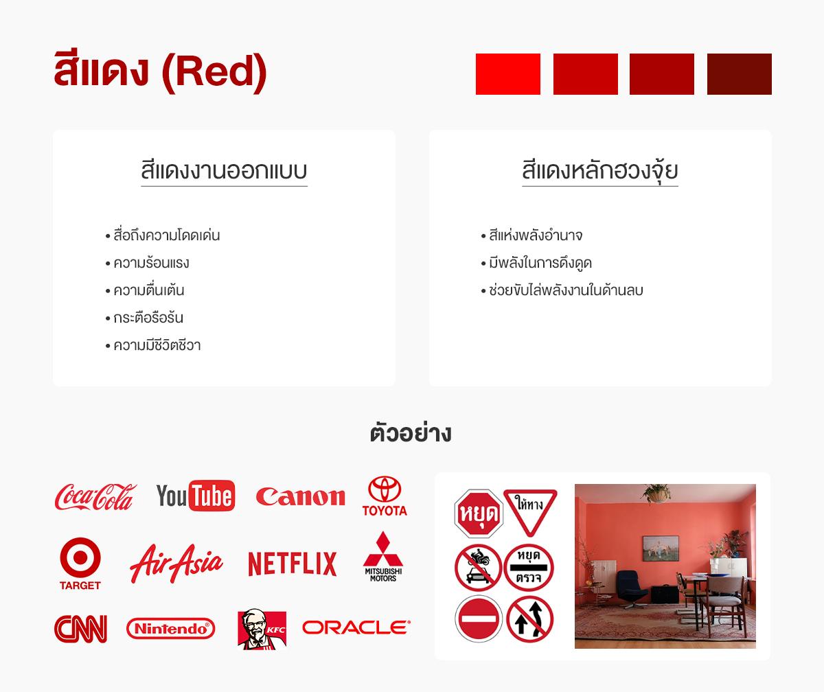 สีแดงออกแบบกับสีแดงฮวงจุ้ย