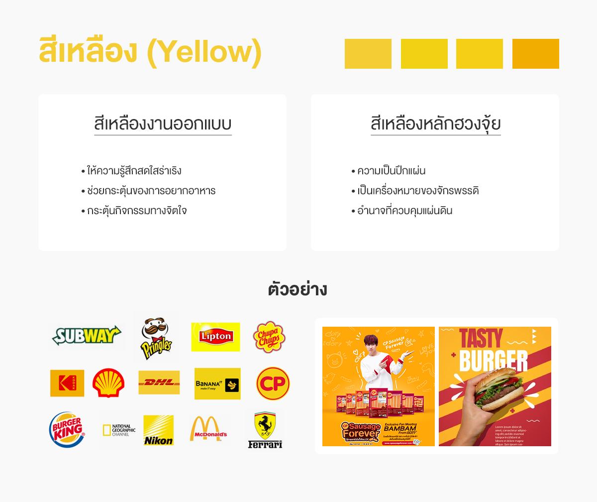สีเหลืองออกแบบกับสีเหลืองฮวงจุ้ย