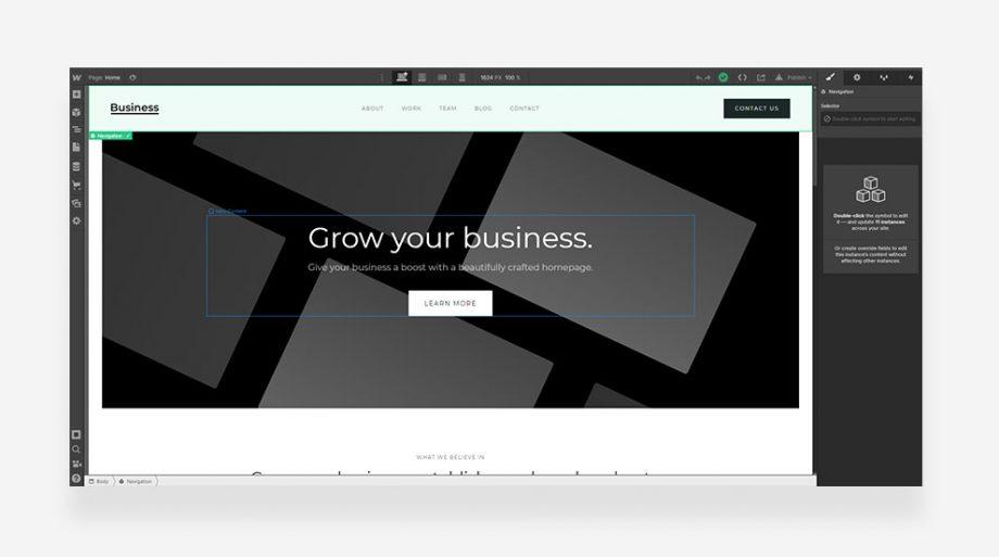 ไอเดียออกแบบเว็บไซต์ใน Webflow