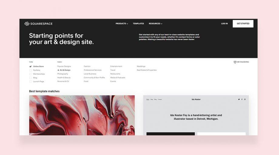 ไอเดียออกแบบเว็บไซต์ใน Squarespace