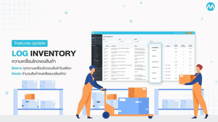 Log inventory ความเคลื่อนไหวของสินค้า