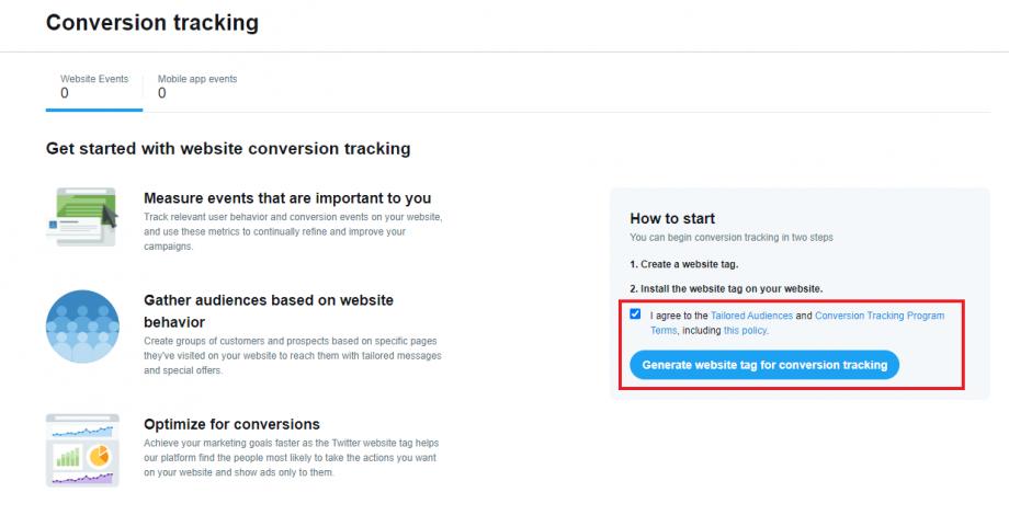 generate twitter website tag